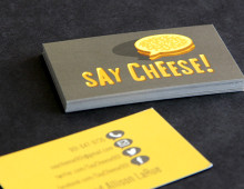 Say Cheese Business Cards